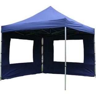 VCM PROFI Falt Pavillon Partyzelt mit 4 Seitenteilen 3x3m blau wasserdichtes Dach - Bild 1