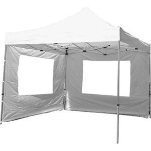 VCM PROFI Falt Pavillon Partyzelt mit zwei Seitenteilen 3x3m weiß wasserdichtes Dach - Bild 1