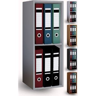 VCM Aktenregal Bücherregal Büroregal Ordnerregal Holz Regal Offas 2fach - Bild 1