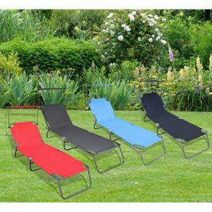 VCM Sonnenliege Gartenliege Relaxliege Liege Liegestuhl Sonnendach - Bild 1