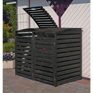 """Promadino Mülltonnenbox """"Vario III"""" für 2 Tonnen - Bild 1"""