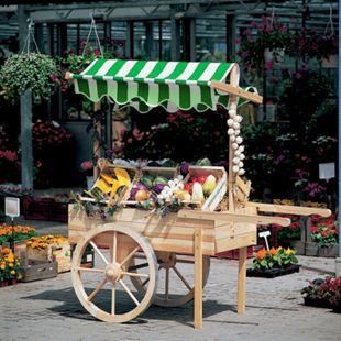 Promadino Marktwagen mit Baldachin weiß/grün - Bild 1