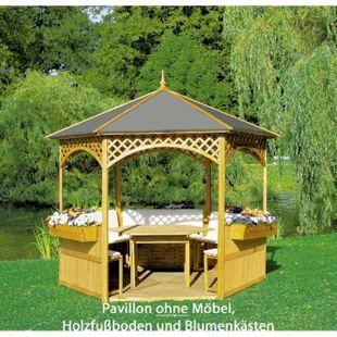 Promadino Pavillon Palma mit Holzdach und Dachpappe - Bild 1