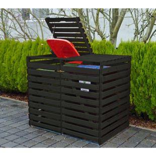 """Promadino Mülltonnenbox """"Vario V"""" für 2 Tonnen - Bild 1"""