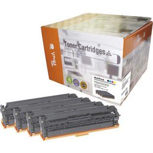 Peach Spar Pack Tonermodule kompatibel zu HP No. 125A, CB540, CB541, CB542, CB543 (wiederaufbereitet) - Bild 1