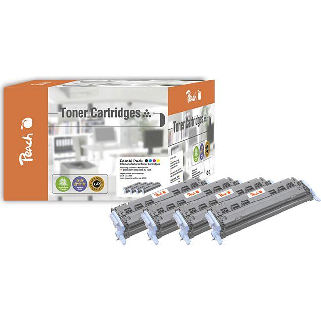 Peach Spar Pack Tonermodule kompatibel zu HP No. 124A (wiederaufbereitet) - Bild 1