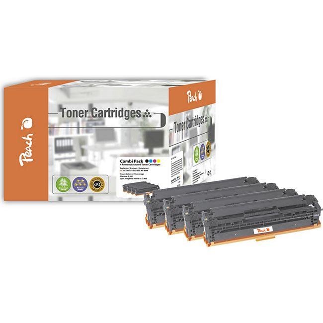 Peach Spar Pack Tonermodule kompatibel zu HP No. 304A (wiederaufbereitet) - Bild 1