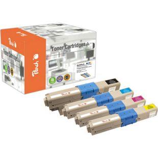 Peach Spar Pack Tonermodule kompatibel zu OKI 44469803, 44469704, 44469705, 44469706 (wiederaufbereitet) - Bild 1