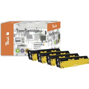 Peach Spar Pack Tonermodule kompatibel zu HP No. 128A (wiederaufbereitet) - Bild 1