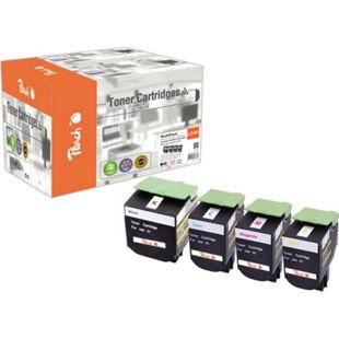 Peach Spar Pack Tonermodule kompatibel zu Lexmark C540H2, C54x, X54x (wiederaufbereitet) - Bild 1
