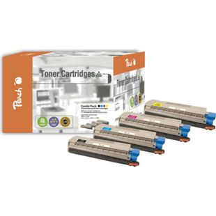 Peach Spar Pack Tonermodule kompatibel zu OKI 44315308,44315307,44315306,44315305 (wiederaufbereitet) - Bild 1