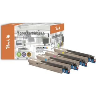 Peach Spar Pack Tonermodule kompatibel zu OKI 43459332,43459331,43459330,43459329 (wiederaufbereitet) - Bild 1