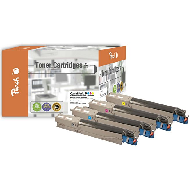 Peach Spar Pack Tonermodule kompatibel zu OKI 43459329-9332 (wiederaufbereitet) - Bild 1
