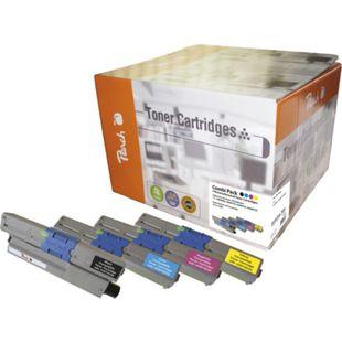 Peach Spar Pack Tonermodule kompatibel zu OKI 44469804, 44469722, 44469723, 44469724 (wiederaufbereitet) - Bild 1