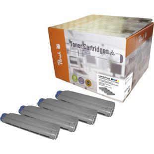 Peach Spar Pack Tonermodule kompatibel zu OKI 821-series (wiederaufbereitet) - Bild 1