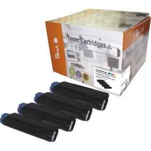 Peach Spar Pack Tonermodule kompatibel zu OKI 42804513, 42804514, 42804515, 42804516 (wiederaufbereitet) - Bild 1