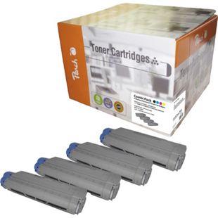 Peach Spar Pack Tonermodule kompatibel zu OKI C5850-series (wiederaufbereitet) - Bild 1