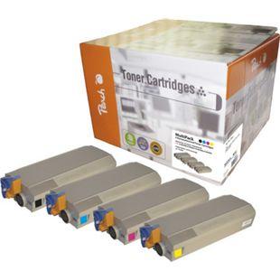 Peach Spar Pack Tonermodule kompatibel zu Sharp, OKI 41963005-8 (wiederaufbereitet) - Bild 1