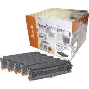 Peach Spar Pack Plus Tonermodule kompatibel zu HP No. 125A, CB540, CB541, CB542, CB543 (wiederaufbereitet) - Bild 1
