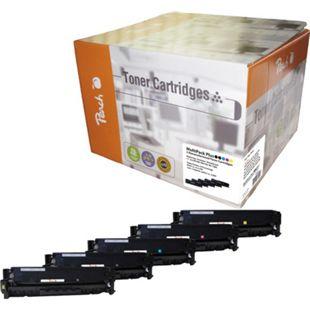 Peach Spar Pack Plus Tonermodule kompatibel zu HP No. 305A (wiederaufbereitet) - Bild 1