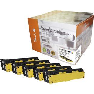 Peach Spar Pack Plus Tonermodule kompatibel zu HP No. 128A (wiederaufbereitet) - Bild 1