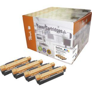 Peach Spar Pack Tonermodule kompatibel zu HP CE250X, CE251A, CE252A, CE253A (wiederaufbereitet) - Bild 1