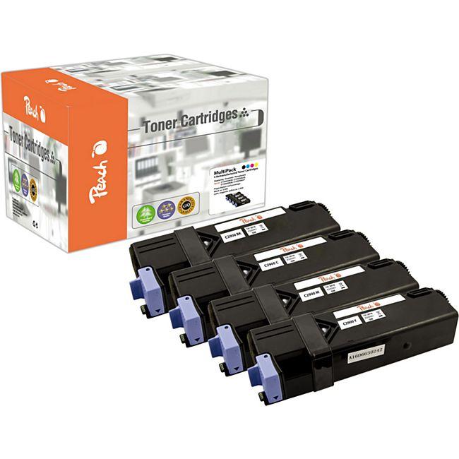 Peach Spar Pack Tonermodule kompatibel zu Epson C13S050627-30 (wiederaufbereitet) - Bild 1