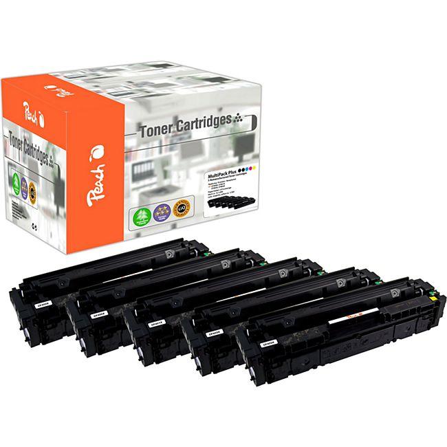 Peach Spar Pack Plus Tonermodule kompatibel zu HP No. 201X, CF400X*2, CF401X, CF403X, CF402X (wiederaufbereitet) - Bild 1