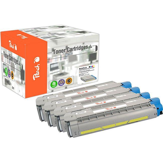 Peach Spar Pack Tonermodule kompatibel zu OKI 46507508, 46507507, 46507506, 46507505 (wiederaufbereitet) - Bild 1