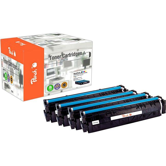 Peach Spar Pack Tonermodule kompatibel zu HP No. 205A, CF530A, CF531A, CF532A, CF533A (wiederaufbereitet) - Bild 1