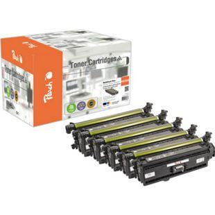 Peach Spar Pack Plus Tonermodule kompatibel zu HP 650, CE270A*2, CE271A, CE272A, CE273A (wiederaufbereitet) - Bild 1