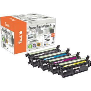 Peach Spar Pack Plus Tonermodule kompatibel zu HP HP 507, CE400A*2, CE401A, CE402A, CE403A (wiederaufbereitet) - Bild 1