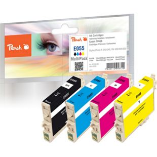 Peach Spar Pack Tintenpatronen kompatibel zu Epson T0556 (T0551, T0552, T0553, T0554) - Bild 1