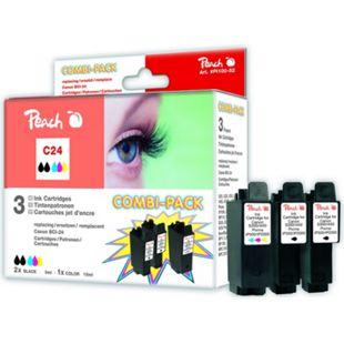 Peach Spar Pack Tintenpatronen kompatibel zu Canon BCI-24-series - Bild 1