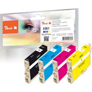 Peach Spar Pack Tintenpatronen kompatibel zu Epson T0615 (T0611, T0612, T0613, T0614) - Bild 1