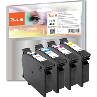 Peach Spar Pack Tintenpatronen kompatibel zu Epson T0715, T0711, T0712, T0713, T0714 - Bild 1