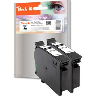 Peach Doppelpack Tintenpatronen schwarz kompatibel zu Epson T0711 - Bild 1