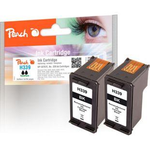 Peach Doppelpack Druckköpfe schwarz kompatibel zu HP No. 339, C8767E (wiederaufbereitet) - Bild 1
