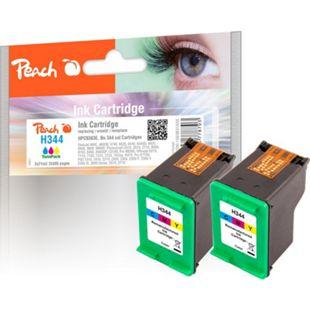 Peach Doppelpack Druckköpfe color kompatibel zu HP No. 344, C9363E (wiederaufbereitet) - Bild 1