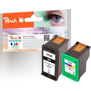 Peach Spar Pack Druckköpfe kompatibel zu HP No. 339, C8767E, No. 344, C9363E (wiederaufbereitet) - Bild 1