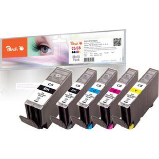 Peach Spar Pack Tintenpatronen kompatibel zu Canon CLI-8, PGI-5 - Bild 1