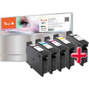 Peach Spar Pack Plus Tintenpatronen kompatibel zu Epson T071, T0711, T0712, T0713, T0714 - Bild 1