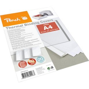 Peach Thermobindemappe weiss für 60 Blätter (A4, 80g/m2), 20 Stück - PBT306-01 - Bild 1