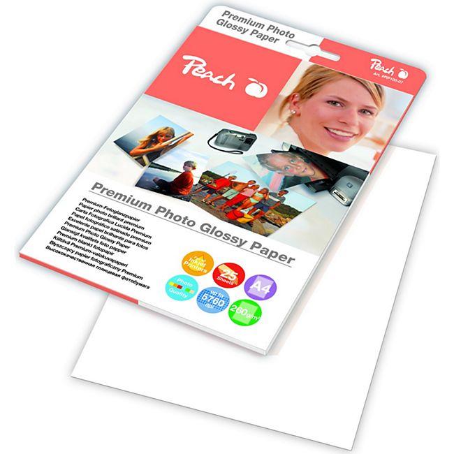 Peach Premium Photo Glossy Papier A4 260 g/m2, 25 Blatt - Bild 1