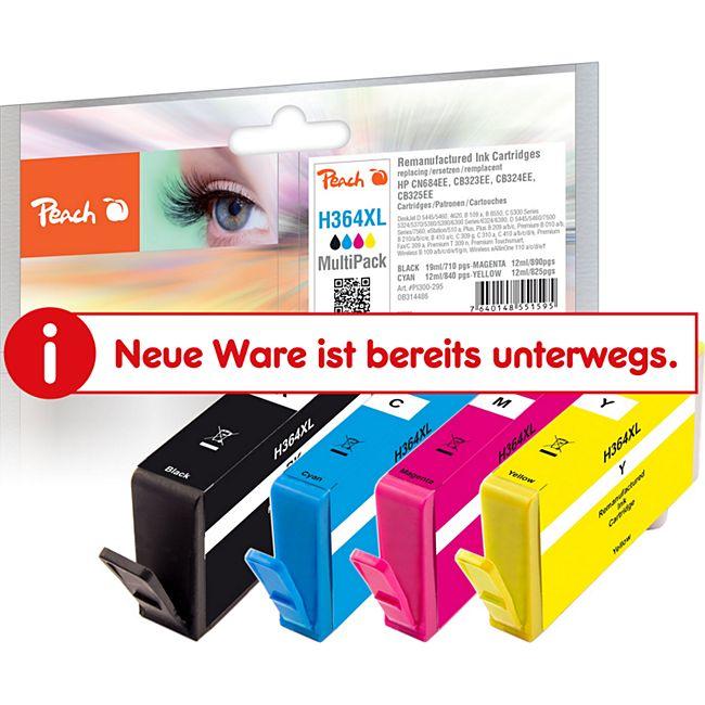 Peach Spar Pack Tintenpatronen kompatibel zu HP No. 364XL (wiederaufbereitet) - Bild 1