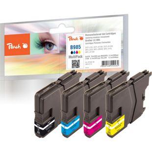 Peach Spar Pack Tintenpatronen kompatibel zu Brother LC-985 (wiederaufbereitet) - Bild 1