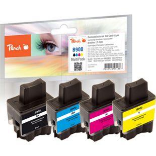 Peach Spar Pack Tintenpatronen kompatibel zu Brother LC-900VAL (wiederaufbereitet) - Bild 1