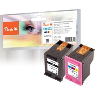Peach Spar Pack Druckköpfe kompatibel zu HP No. 301XL, CH563EE, CH564EE (wiederaufbereitet) - Bild 1