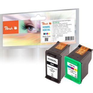 Peach Spar Pack Druckköpfe kompatibel zu HP No. 350XL black, CB336EE,  No. 351XL color, CB338EE (wiederaufbereitet) - Bild 1