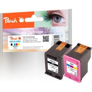 Peach Spar Pack Druckköpfe kompatibel zu HP No. 901XL black, CC654AE,  No. 901 color, CC656AE (wiederaufbereitet) - Bild 1